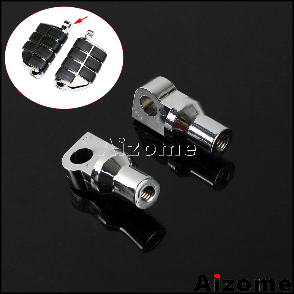 Motorcycle Highway Foot Rests Foot Peg Male Mount Adapter For Harley Softail Fat Boy SuperLow Road King Street Glide Wide Glide