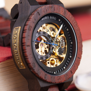 Personalized Customiz Watch Men BOBO BIRD Wood Automatic Watches Relogio Masculino OEM Anniversary Gifts for Him Free Engraving 8