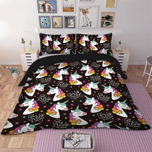 Wongs Bedding Unicorns Set Queen King Size cartoon uniocorn Duvet Cover Bed bedline