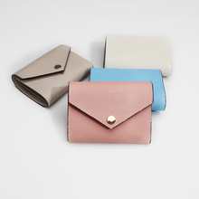 Women Luxury Designer Wallet Colored Flip Cover Cute Short Coin Purse 100% Genuine Leather Gift Boxes Free Shipping