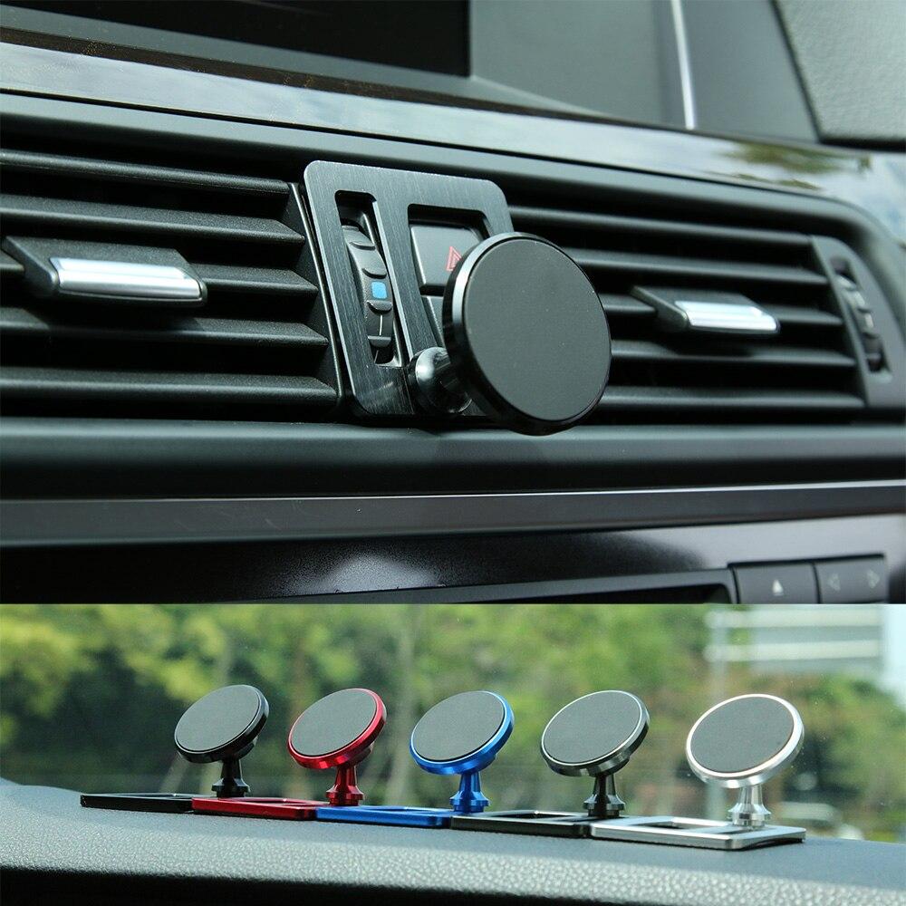 Для BMW 5 серия F10 F11 Автомобильный держатель для телефона на магните 520i 528i 530i xDrive M на выходе воздуха автомобиля мобильный телефон чехол с магн...
