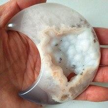 Kamienie naturalne i kryształy kryształowe serce agat bryła kryształowa home decor kamień palmowy bardzo piękny kształt księżyca
