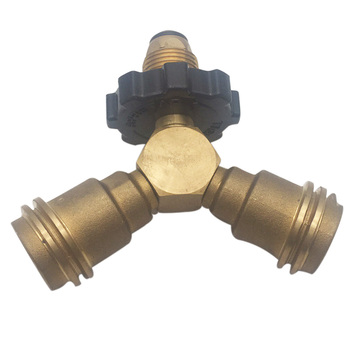 Earth Star Brass Propane Cylinder POL Type Connection Y-Splitter Adapter free shipping sg 50 63 m16x1 5 iso6431 cylinder attachment y type joint u joints y page 3