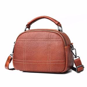 Image 1 - Women Messenger Bags 2019 Crossbody Bags For Women Soft Leather Shoulder Bag Sac A Main Small Handbags High Quality Flap Bag