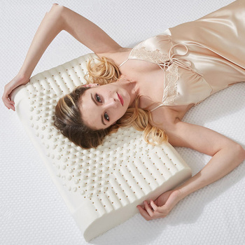 Almohada de látex de masaje para dormir, Almohada ortopédica kussens Oreiller almohadas...