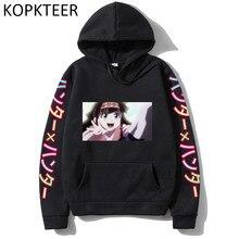 Harajuku hoodies alluka zoldyck hunter x hunter das mulheres dos homens outono inverno hoodies casuais engraçado 2021 moda manga longa camisola