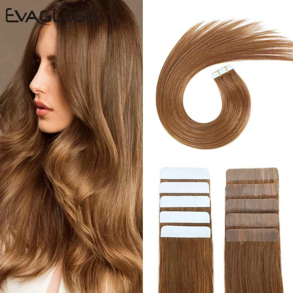 Tape In Human Hair Extensions Huid Inslag Machine Remy 20Pcs 40Pcs Adhesive Dubbelzijdig Tape In Hair Extensions gratis Verzending