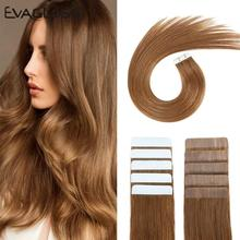 Skin-Weft-Machine Hair-Extensions Tape-In 20pcs Adhesive Remy Double-Sided