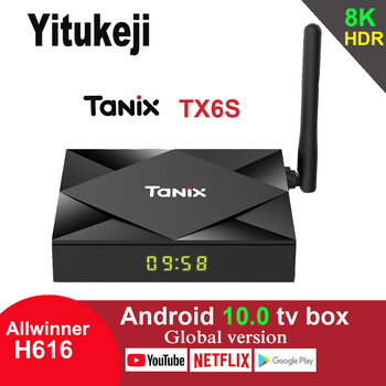 Tanix TX6S Android 10.0 TV Box Allwinner H616 4GB 64GB 2.4G 5G Wifi Bluetooth Youtube Google Play 6K Media Player
