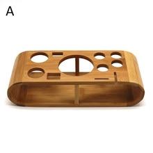 Suporte de madeira elegante, base de madeira para coquetelos, kit de barril, suporte para festa de bar em casa