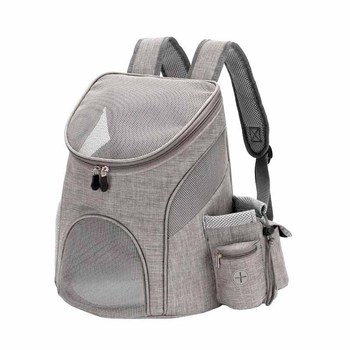 Portable mesh Dog/Cat Bag Breathable Dog Backpack Large Capacity Cat Carrying Bag Portable Outdoor Travel Pet Carrier 1