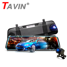 цена на TAVIN 10inch touch screen Dash cam Dual lens Rearview mirror Car dvr camera Full HD 1080P Night Vision Registered video recorder