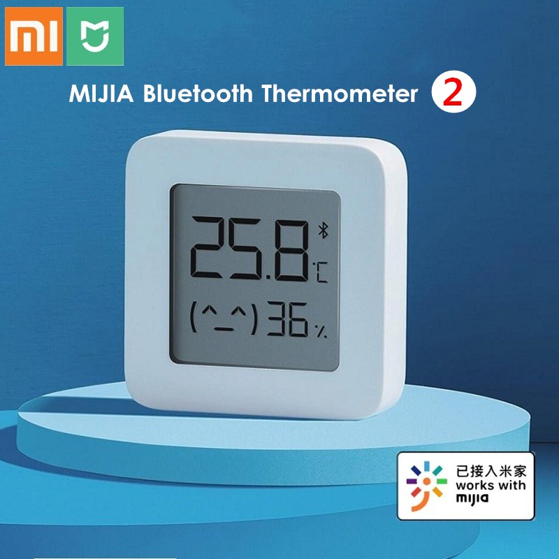 Original XIAOMI Mijia Bluetooth Thermometer 2 Wireless Smart Electric Digital Hygrometer Thermometer Humidity Sensor Smart Home