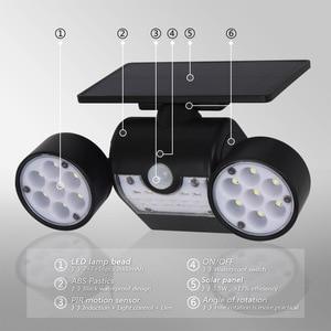 Image 2 - Dış duvar lambası güneş LED ışık hareket sensörü duvar işıkları 30 LED IP65 su geçirmez çift ışık kafa veranda garaj hızlı kargo