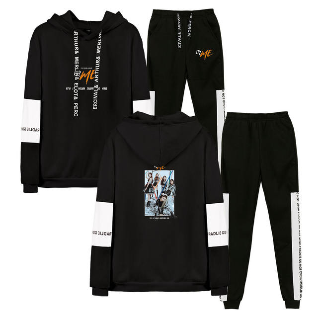 SET ITZY THEMED HOODIE + TROUSERS (20 VARIAN)