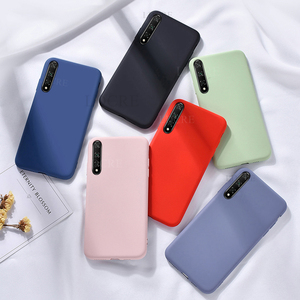 For Huawei Y8P Case Liquid Thin Silicone Anti-slip Soft Touch Case For Huawei Y8P Y6P Y5P Cover For Huawei P Smart 2020 PSmart Z