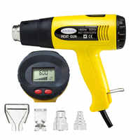 Industrial hair dryer with display construction hot air blower heating gun with 15 seconds shutdown delay function LCD 220V
