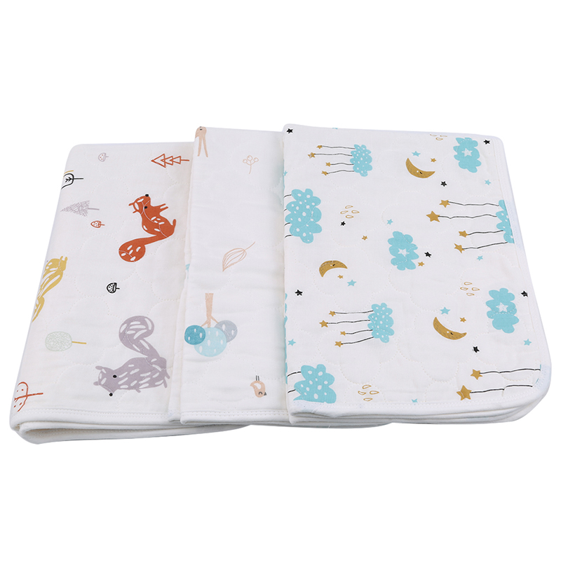 Baby Changing Mat Cartoon Cotton Waterproof Sheet Washable Baby Urinal Pad Table Diapers Game Play Cover Infant Mattress