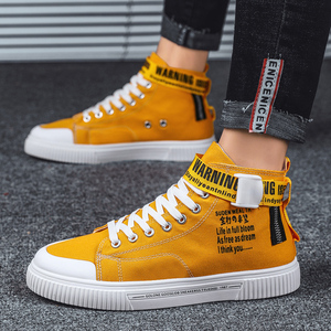 Image 1 - BIGFIRSE גברים נעליים יומיומיות גבוהה למעלה גברים נוחים אופנה נעלי החלקה גברים סניקרס חיצוני פנאי נעלי Zapatillas Hombre