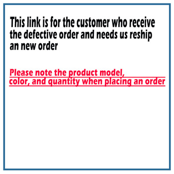 This link is for customers who received a defective order and need us to resend a new order image