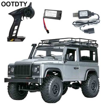 LED Lights Toy 4WD Crawler Off Road 2.4GHz Kids DIY Rechargeable Battery 1/12 Ve