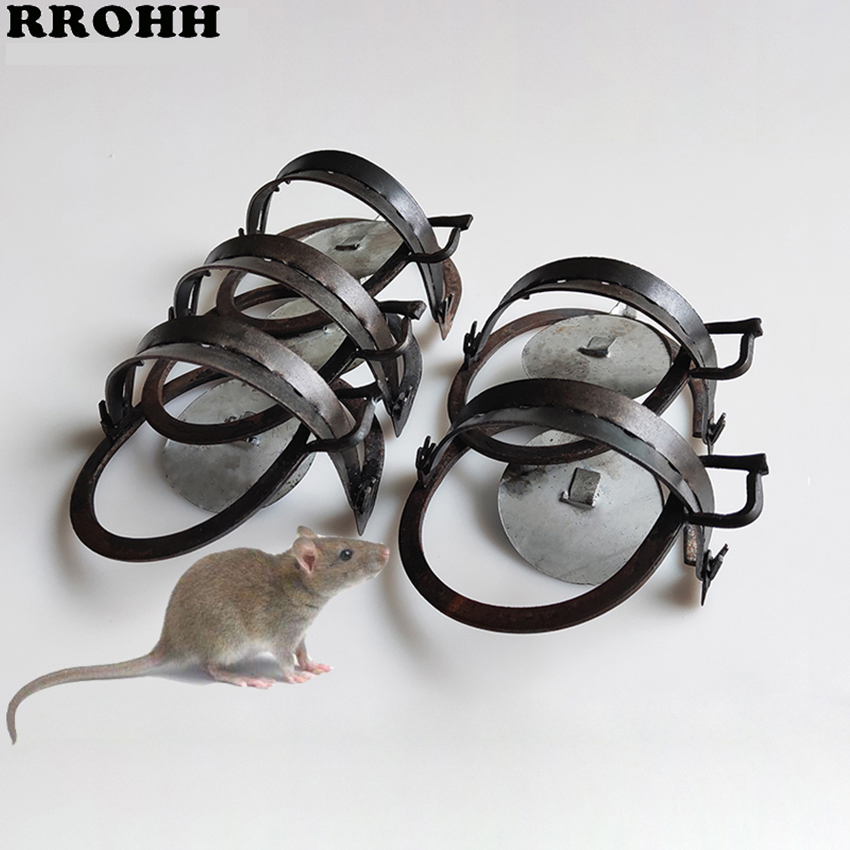 Reusable Mouse Clip Iron Strong Round Ground Clip Wild Catch Mouse Artifact Home Old-fashioned Kill Catch Mousetrap Pest Control