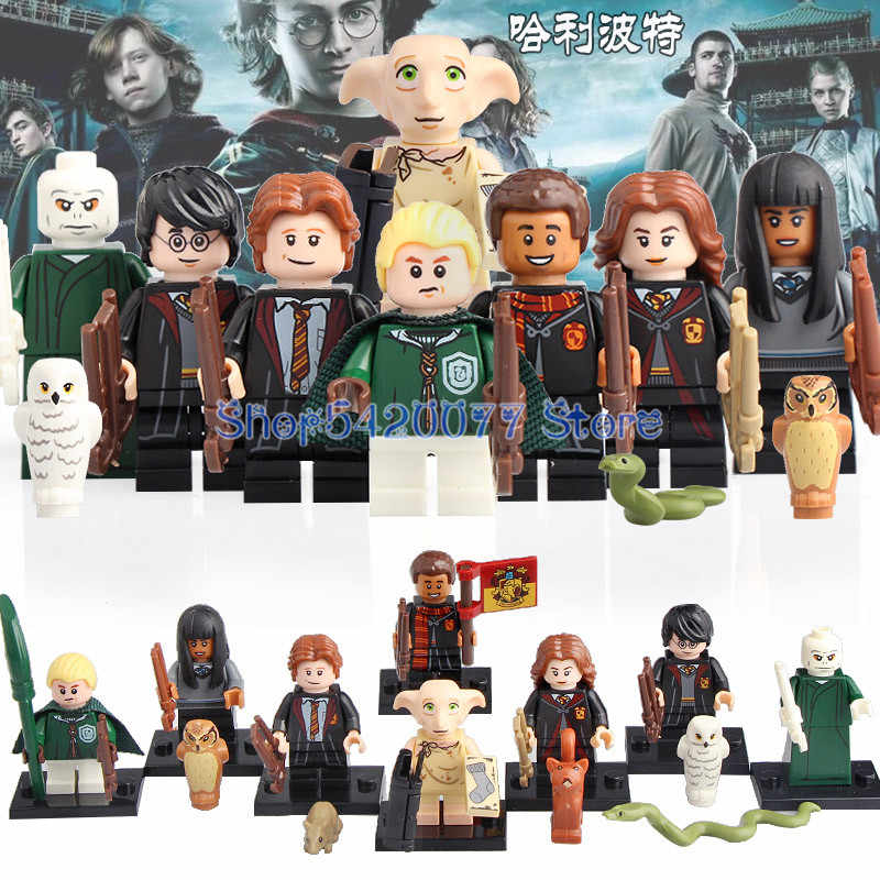 Building Blocks Harry Series Potters Dobby Moody Quirrell Filch Voldemort Dean Thomas Pop Toys for children Gifts WM6040