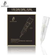 10PCS BIOMASER Tattoo Needles Disposable Permanent Makeup Cartridge Needle For Machine Eyebrow Lip With 1R,2R,3R,5R