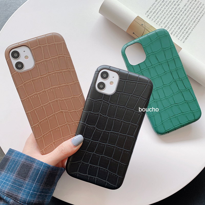 Crocodile Texture Skin Cover Phone Case Made Of Plastic Material For iPhone Models 2