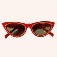 Cat Eye Sunglasses Women Brand Designer UV400 Diamond Sun Glasses Personality Cool
