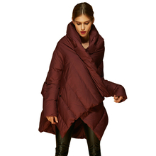 VEYDU, новые модные женские пуховики, необычное пальто с отворотом, Женская легкая супер теплая верхняя одежда, куртка, брендовая парка