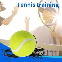 Solo Tennis Trainer Rebounder Ball Tennis Ball Practice with 2 Ball Houkiper Tennis Trainer Tennis Ball Singles Training Tennis Training Back Base Trainer Tools for Kids Adult Beginner