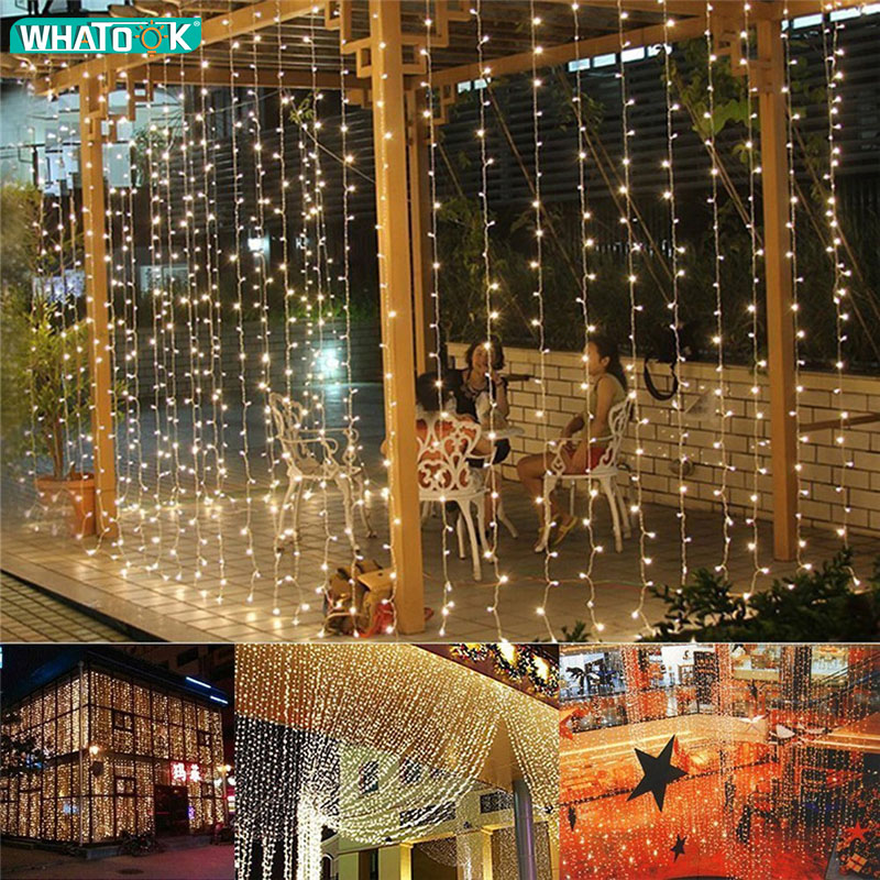 12mx2m LED Curtain Icicle String Lights 960 Leds Fairy Garland Christmas Indoor Outdoor Wedding Lighting Home Party Garden Decor