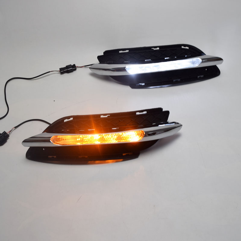 Car Flashing 1Set for <font><b>Mercedes</b></font> Benz <font><b>B200</b></font> <font><b>W246</b></font> B180 2011 2014 LED DRL Daytime Running Lights Daylight With Turn Signal lamp image