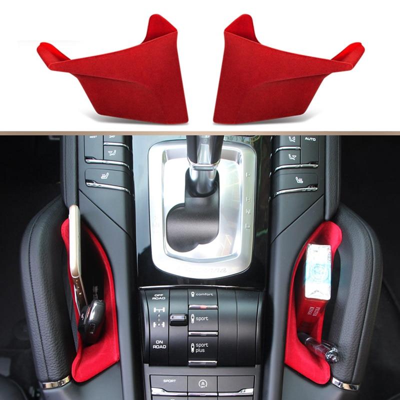 For Porsche Cayenne 2011 2016 Car Accessories Interior Center Console Armrest Storage Container Pocket Organizer Holder Box 2pcs|box armrest|box box|box storage box - title=