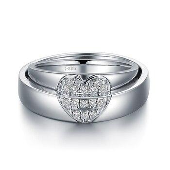 0.15ct/men 0.20ct/women18ct Gold Diamond Couple Set Rings Wedding Bands Engagement Rings for Men Women Free DHL Shipping 3