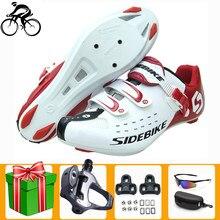 Sidebike ciclismo de estrada sapatos homem bicicleta bicicleta ciclismo ultraleve esportes auto-bloqueio profissional respirável
