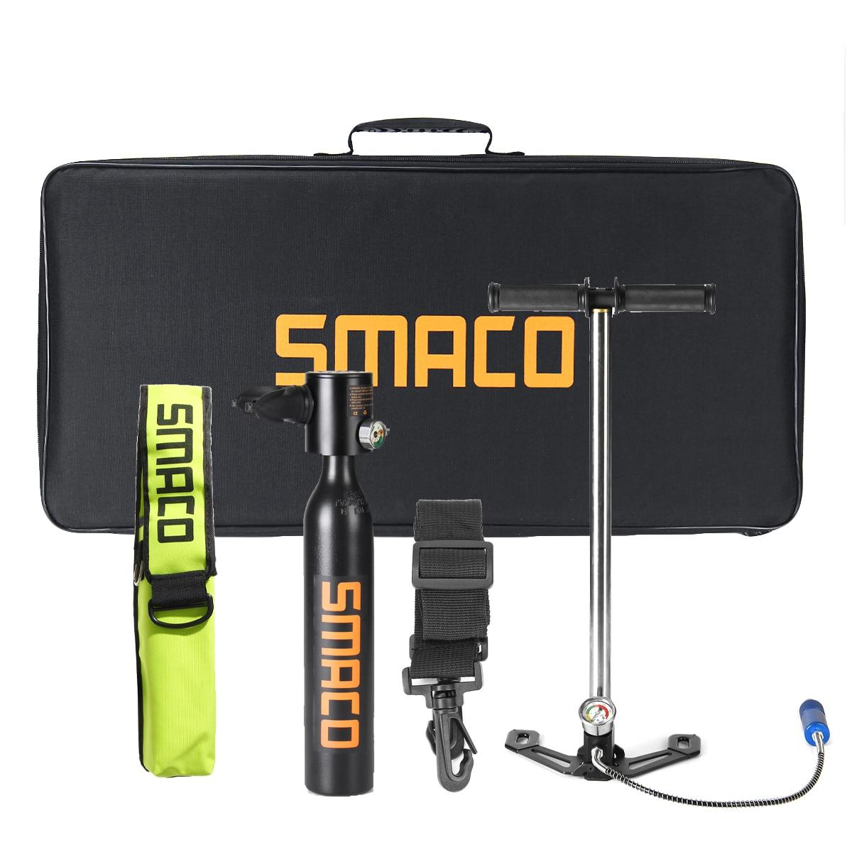 SMACO Underwater Breathing Accessories/Set 0.5L Diving Equipment Mini Scuba Diving Cylinder Scuba Oxygen Tank Pump Bag