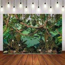 Mehofond fotoğraf Backdrop yenidoğan bebek duş orman yeşil bitkiler doğum günü partisi zemin dekorasyon stüdyo fotoğraf
