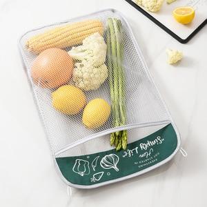 Сетка для защиты овощей сумка с большим ртом дизайн висит Тип разумные Ёмкость Кухня для хранения|Сумки для вещей|   | АлиЭкспресс
