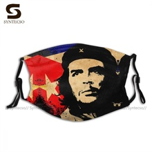 Dropshipping Protective Che Guevara Face Mask Fantasy Polyester Bike Unisex Mouth Facial Mask With Filter