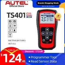 Autel sistema de supervisión de presión de neumáticos MaxiTPMS TS401 herramienta de escáner de diagnóstico OBD2 TPMS, activa 315, 433MHZ, programación de Sensor
