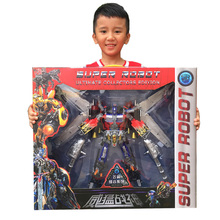 Large Transformation Car Robot Toy Mighty God of War Autobots Figures Deformation Action Figure Collections Boy Toys