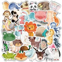 25/50/80 PCS Mix Styles Cute Watercolor Animal Sticker Neon Light Butterfly DIY Funny Stickers for Laptop Car Luggage Bike Toys