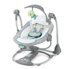 Подарок для новорожденных, многофункциональное музыкальное Электрическое Кресло-Качалка для младенцев, комфортное детское кресло-качалка, складное кресло-качалка для детей 0-3 лет
