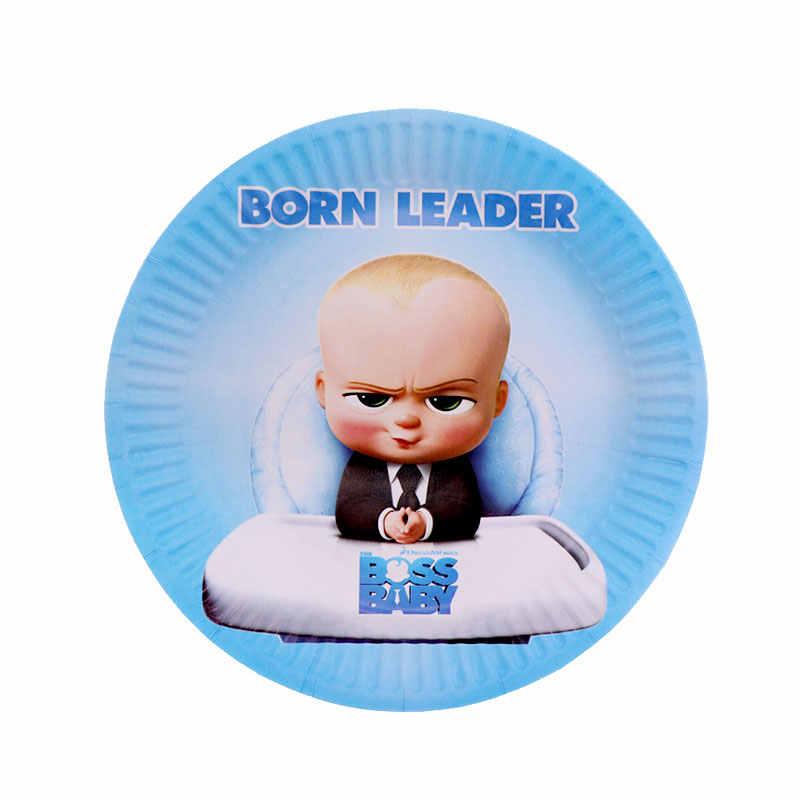 מוצרים חדשים חד פעמי כלי שולחן בוס תינוק נושא שמח יום הולדת תינוק מסיבת אמבט כוס צלחת קישוט ספקי צד
