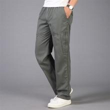 2020 بناطيل رجالي فضفاضة جيوب رجالي عادية حجم كبير 5XL تنفس السراويل الرجال كبيرة وطويلة القامة الصيف مستقيم طويل بنطلون أوم