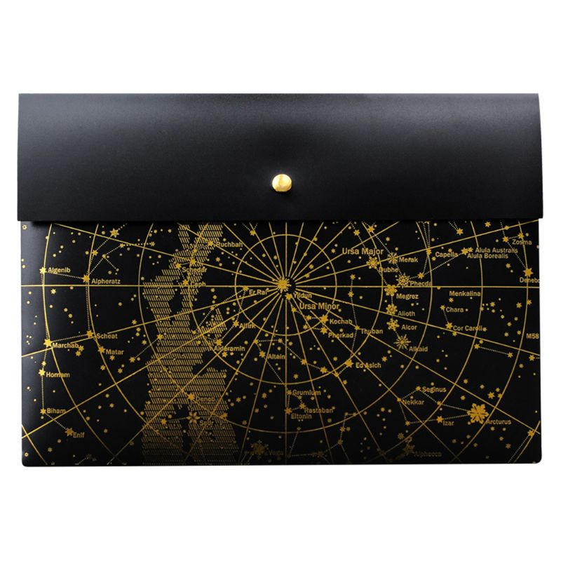 Fantasy Star Laser Transparent Pocket PP File Bag Originality Folder School Stationery Case Pouch Student Gifts