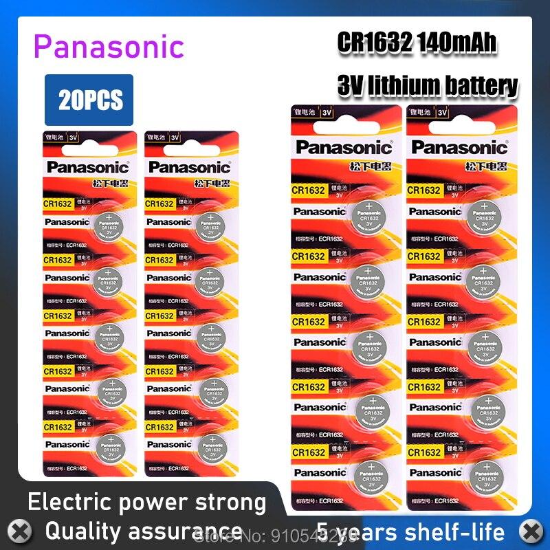 20 шт CR1632 PANASONIC 3V литиевые батареи 1632 DL1632 кнопочная монетная батарея для компьютеров с дистанционным управлением калькуляторы часы