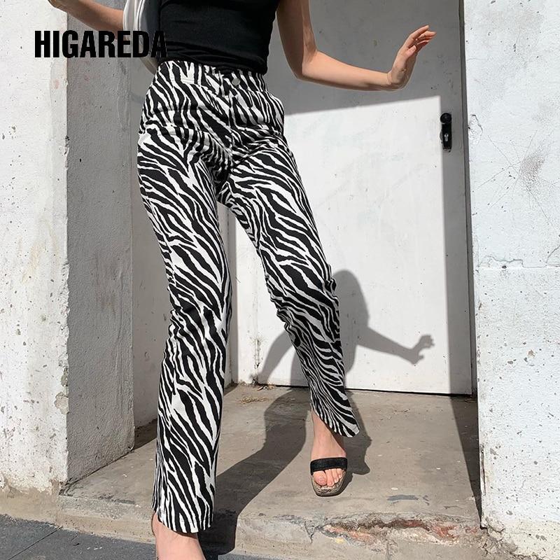Zebra Animal Print Elegant Pants Capris Harajuku High Waist Trousers Ladies Casual Office Pants Women Streetwear 2019